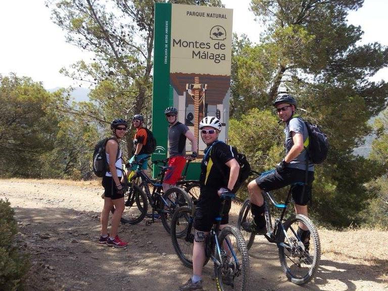 Montes de Malaga big sign