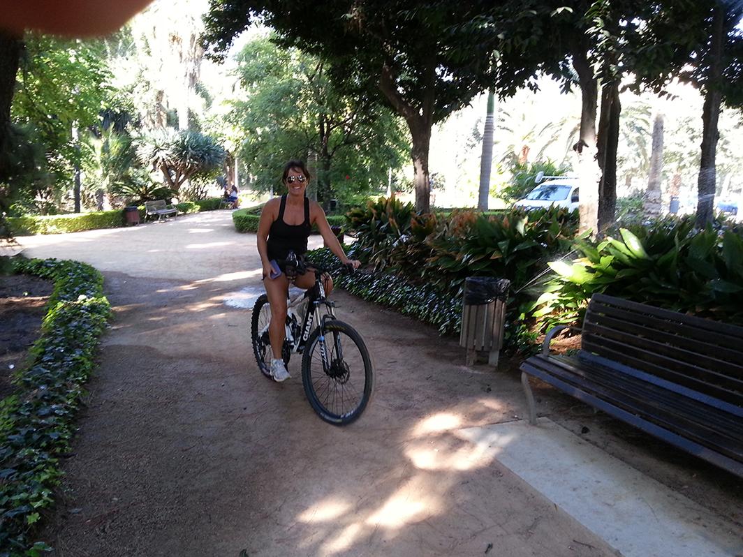 Malaga City shady botanical park
