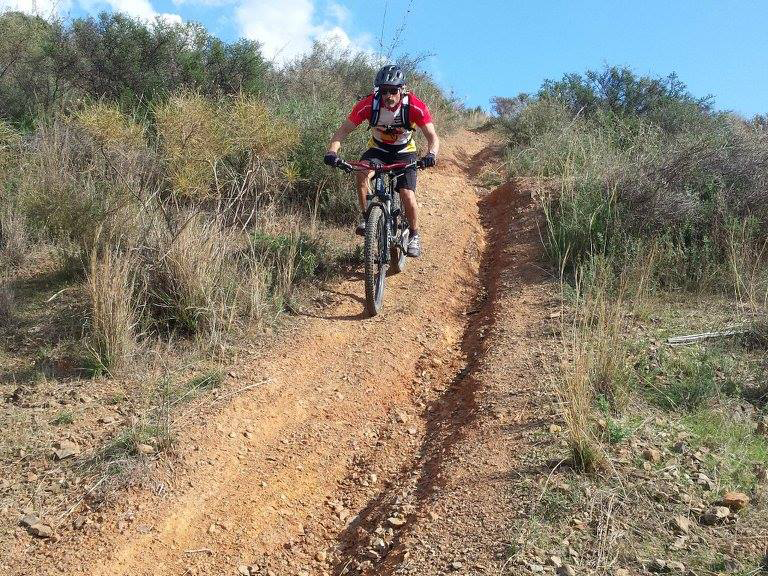 La Cala trail with ruts