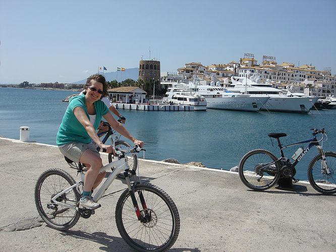 Puerto Banus pleasant ride through the port