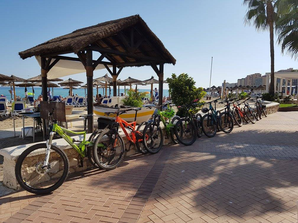 Malaga Seafront lunch stop in one of the Chiringuitos