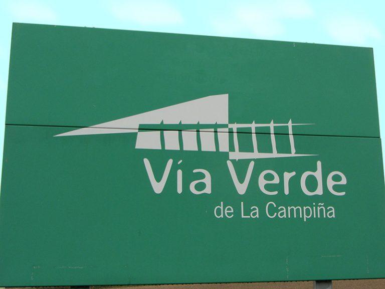 Via Verde de la Campiña sign