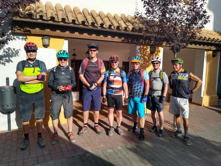 White Village Tour of Andalucia big group photo outside restaurant