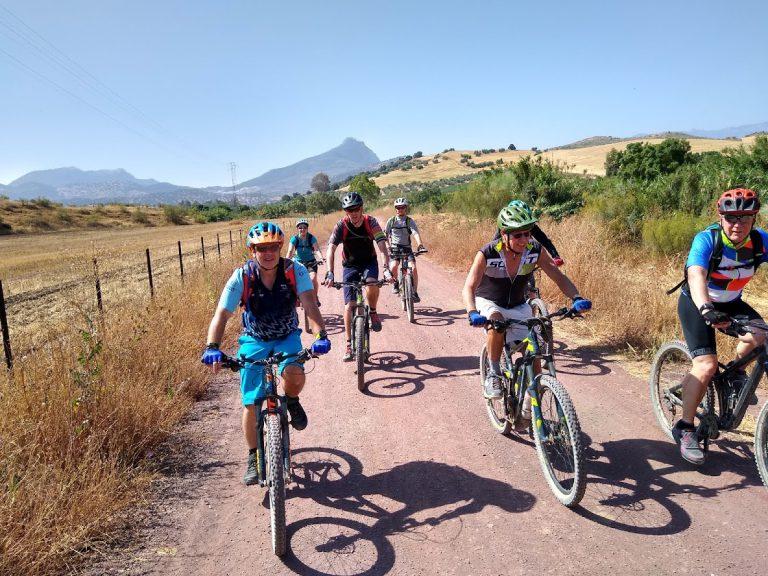White Village Tour of Andalucia group photo riding