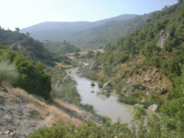 Via Verde de la Sierra river