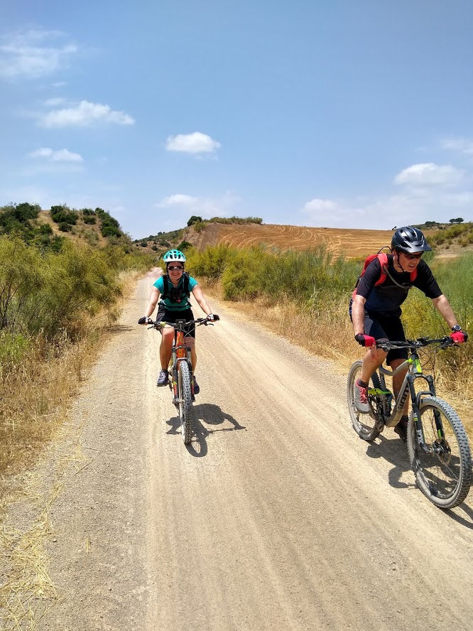 White Village Tour of Andalucia cycling along dirt roads between villages