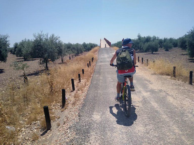 Via Verde del Aceite riding along countryside dirt roads