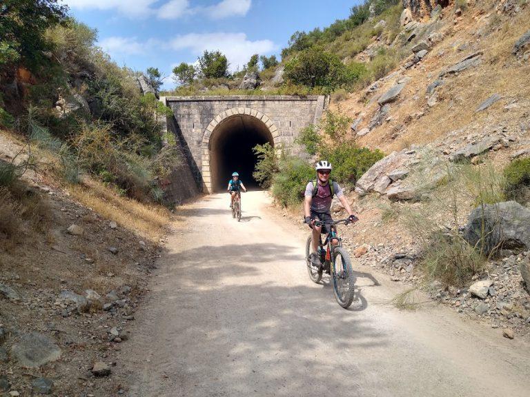 White Village Tour of Andalucia riding through tunnels