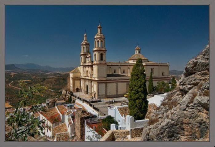 Via Verde de la Sierra cathedral over village