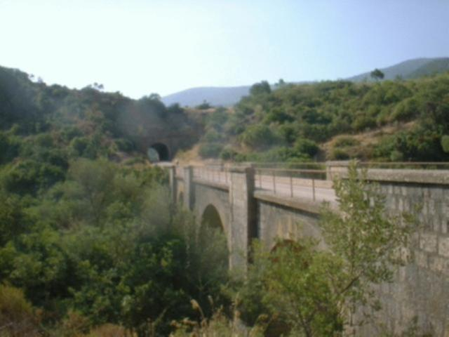 Via Verde de la Sierra bridge over aqueduct