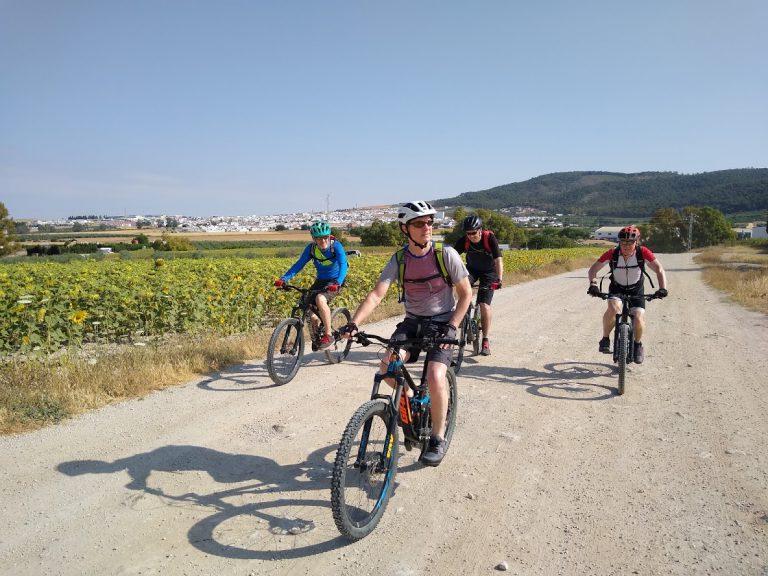 White Village Tour of Andalucia group riding towards camera