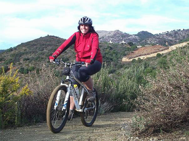 Rio Grande happy rider on countryside trail