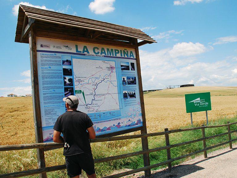 Via Verde de la Campiña map sign