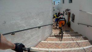 San Antón urban riding down steps
