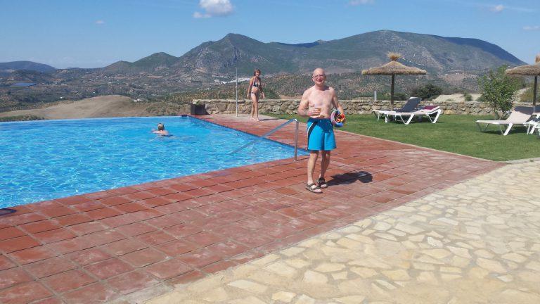 Zahara de la Sierra hotel los tadeos refreshing swim in infinity pool