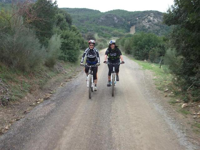 Via Verde de la Sierra riding along dirt roads