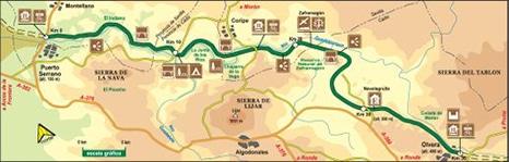 Via Verde de la Sierra map