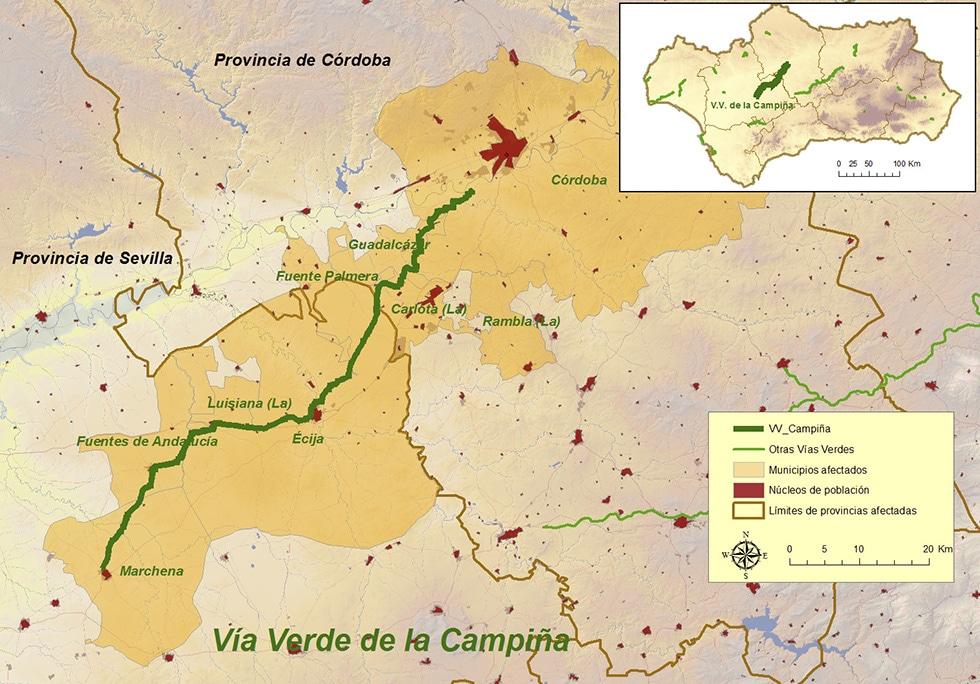 Via Verde de la Campiña map