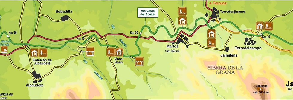 Via Verde del Aceite close-up map