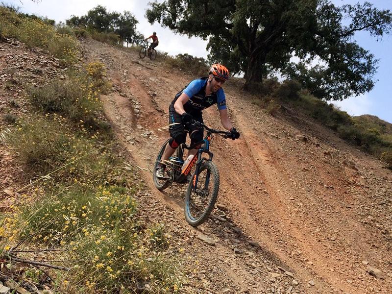 Mijas Down steep rutty shoot