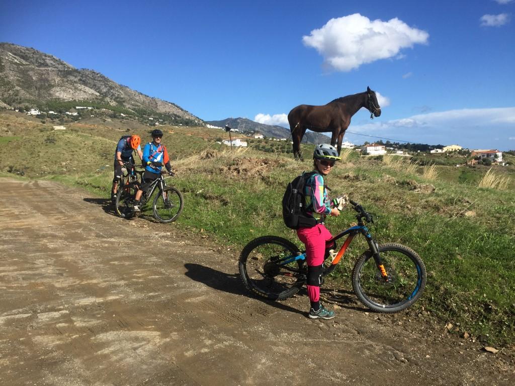 Mijas Down riders posing with horse