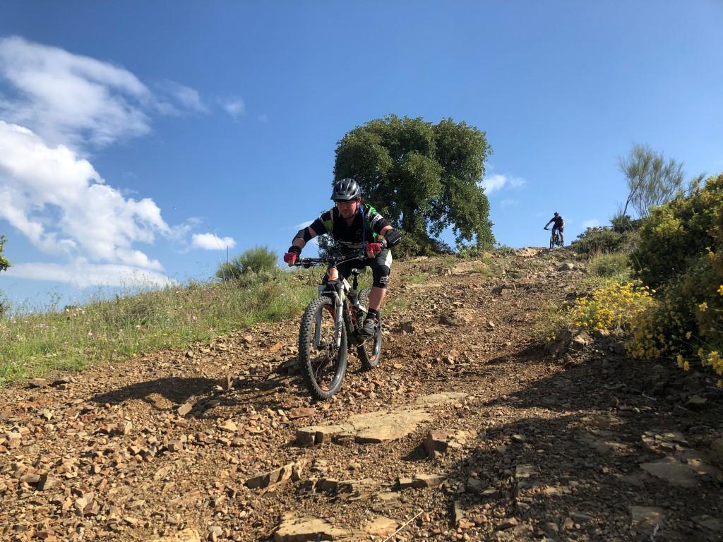 Malaga Bike Park The Mirador rocky descent