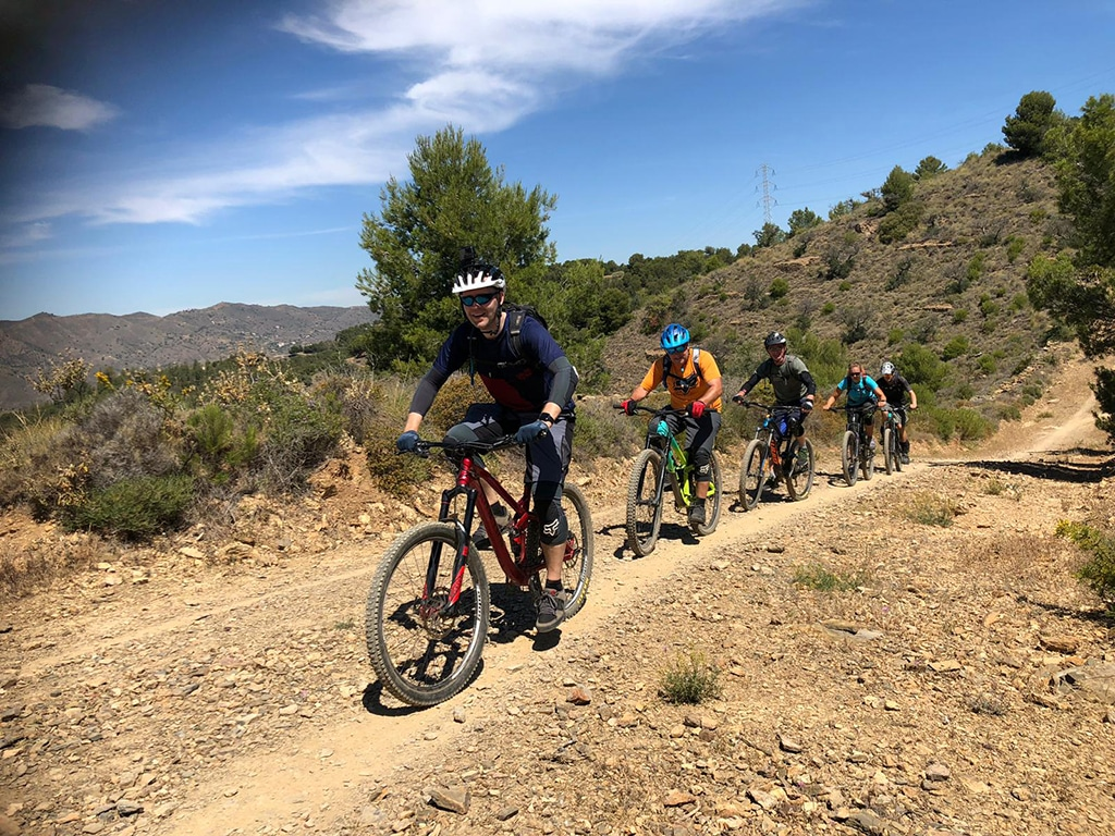 Malaga Bike Park group climb