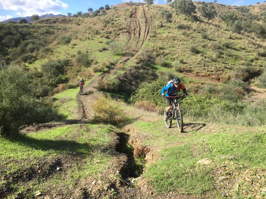 Mijas Down rutty steep climb