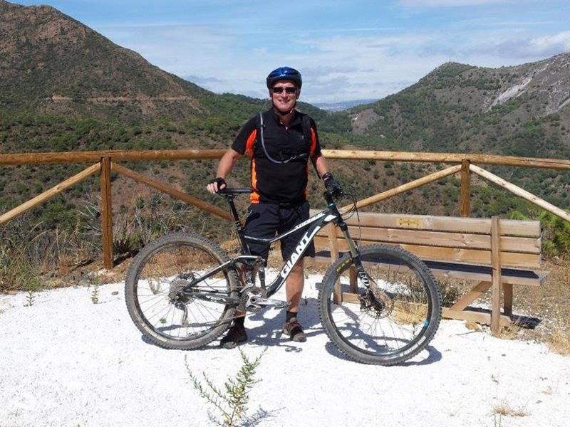 Barranco Blanco posing at viewpoint