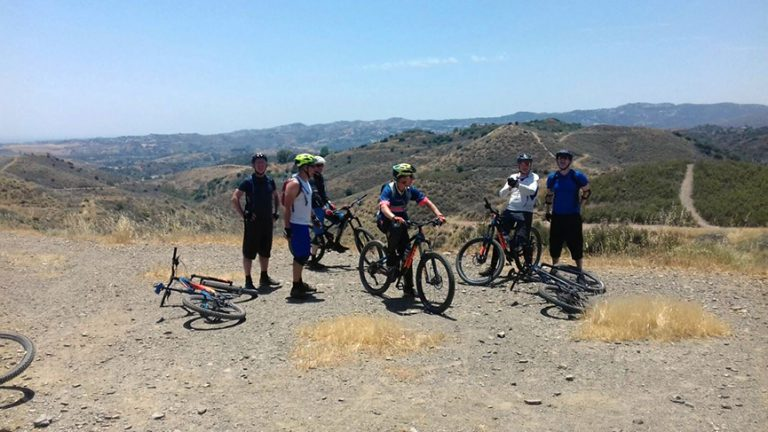 Valtocado big group resting at top plateau with great views