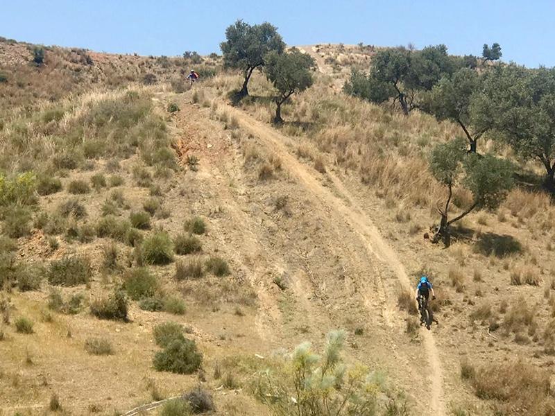 Mijas Down steep descent