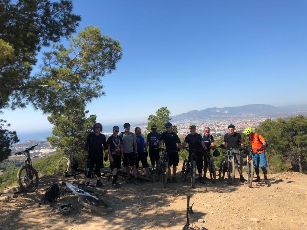 Malaga Bike Park viewpoint overlooking Malaga city and coast
