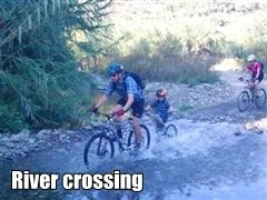 Sierra MTB father and kid River Crossing Thumbnail