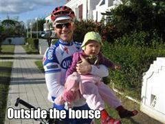 Sierra MTB Garden house front father and baby Thumbnail