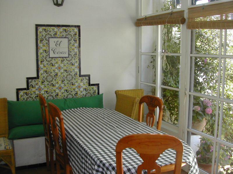 Breakfast house inside table